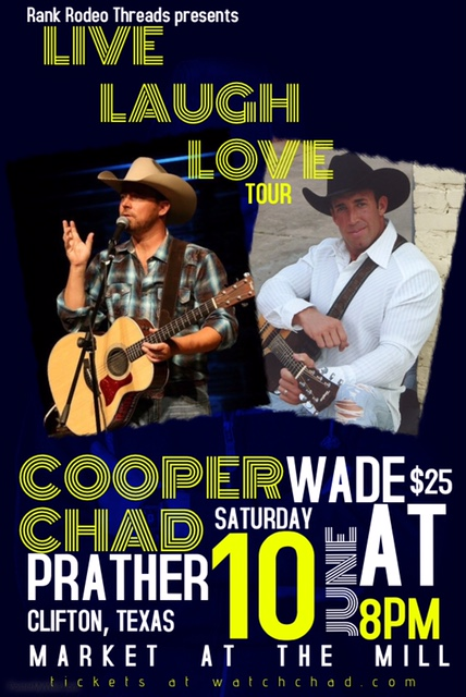 Chad Prather & Cooper Wade Concert @ Market at the Mill
